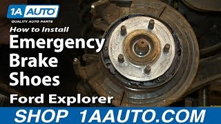 How To Install Replace Emergency Brake Shoes 2002-05 Ford Explorer Mercury Mountaineer