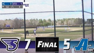 Stonehill Baseball Highlights and Post-Game Interviews vs Assumption