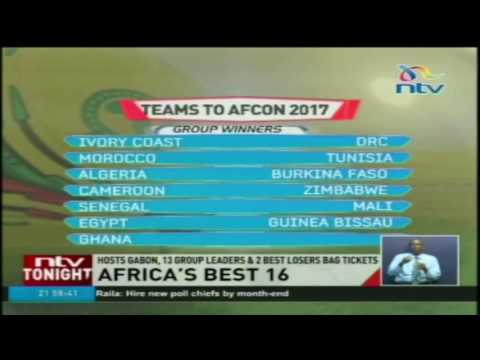 Africa best 16: Hosts Gabon, 13 group leaders & 2 best losers bag tickets