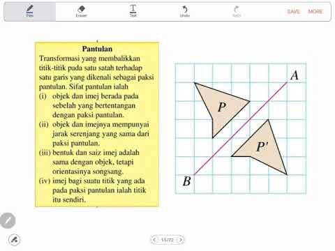 Bab 11 Matematik Tingkatan 2 Part 2 Pantulan Youtube
