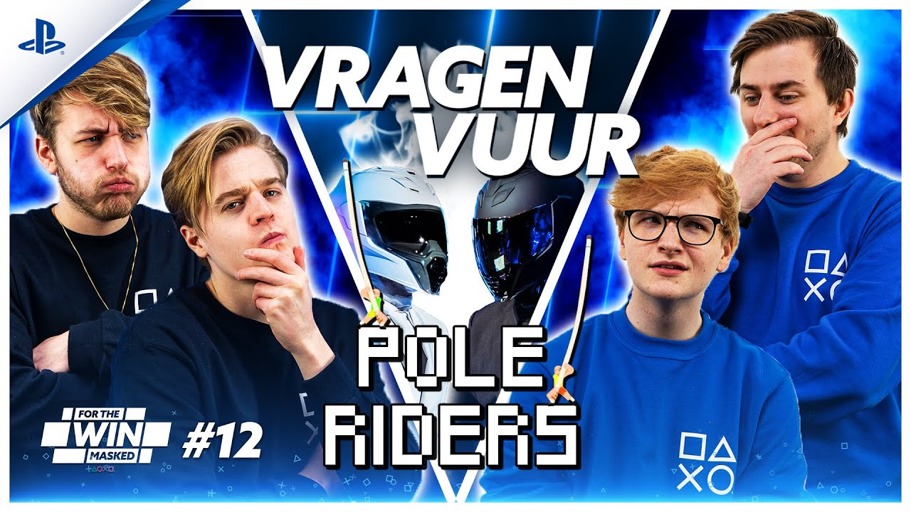 SUPER POLE RIDERS VRAGENVUUR met JEREMY, MATTHY, THOMAS en EGBERT | FOR THE WIN: MASKED #12