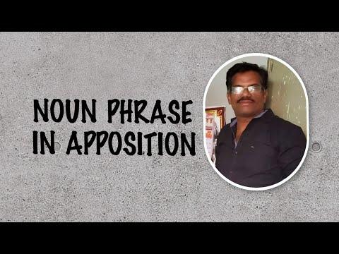 NOUN PHRASE IN APPOSITION