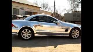 Mercedes Benz SL 500 Хпромированная зеркальная пленка.(Mercedes Benz SL 500 Хпромированная зеркальная пленка. продажа автомобилей,продать автомобиль,цена,купить автомо..., 2013-09-11T07:10:45.000Z)