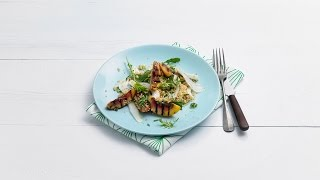 Couscous salad with grilled nectarines  Savory