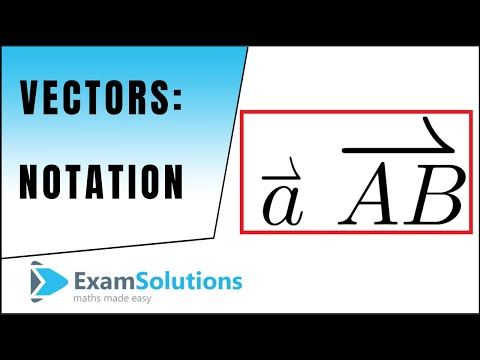 Vector notation (2D version), unit base vectors : ExamSolutions Maths Revision