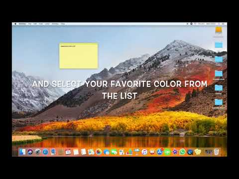 HOW TO CHANGE THE COLOR OF STICKIES NOTE ON MAC IN HIGH SIERRA