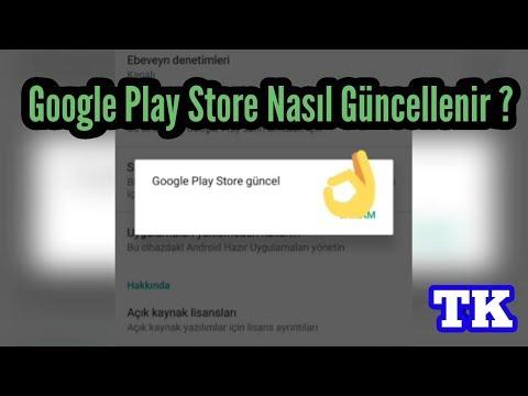 Google Play Store Nasıl Güncellenir ? (%100 Update)