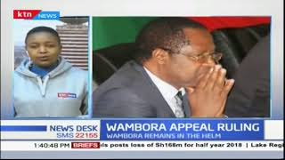 Why Appellate Court upheld Governor Wambora's election win