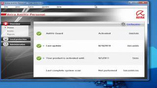 how to install offline or manual updates of avira antivirus  microsoft windows XP ,Vista and seven 7 2010