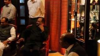 M Ravi Shetty, Bunts Qatar president addressing the gathering