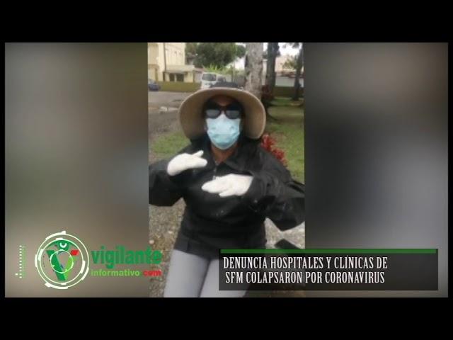 Denuncia hospitales y clínicas de SFM colapsaron por coronavirus