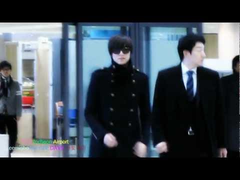 111206 Lee Min Ho arrival in Korea [fancam by DAVE]