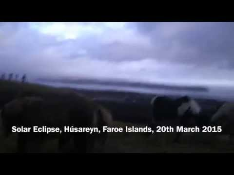 Solar Eclipse, Húsareyn, Faroe Islands, March 20, 2015
