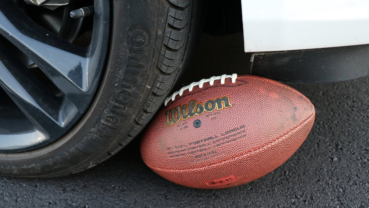 Hitting A NFL Football Going 40 MPH In My Car...