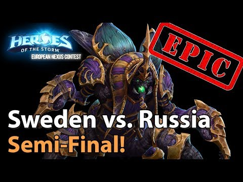 ► EPIC! Heroes Of The Storm Nationscup: Sweden Vs. Russia - Semifinals