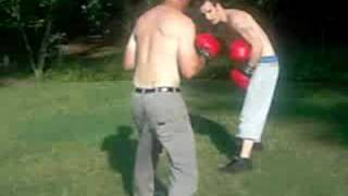 sparing with pops