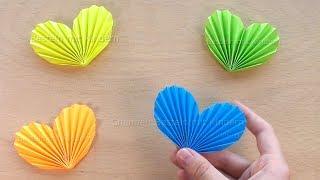 Baixar Herz basteln mit Kindern - Herz falten mit Papier - Geschenk selber machen - DIY Origami Bastelideen