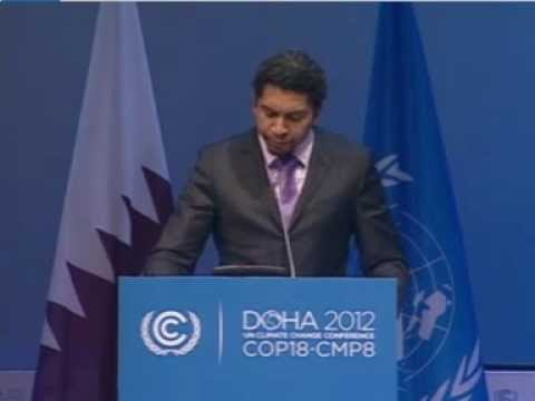 Statement to the UN Climate Change Conference in Doha, Qatar