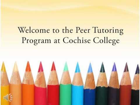 Peer Tutor Training - Cochise College, Douglas campus 06/2012