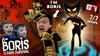 BORIS & THE DARK SURVIVAL!  RUN from the INK DEMON! (FGTEEV x NEW Bendy Game Ending)