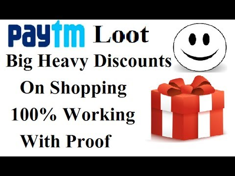 Paytm big heavy discounts on shopping ! New promo code ! 100% working with proof 2017