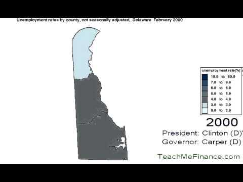 Delaware Unemployment Map