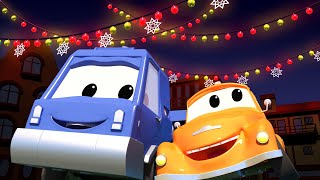 Tom the Tow Truck -  Chuck and the Christmas Illuminations - Car City ! Trucks Cartoon for kids