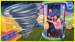 Tornado on Ryan's Mystery Playdate Mystery Wheel Challenge!
