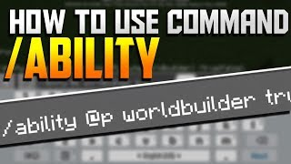 How to use /ability Command! - Minecraft PE 1.6.0.5