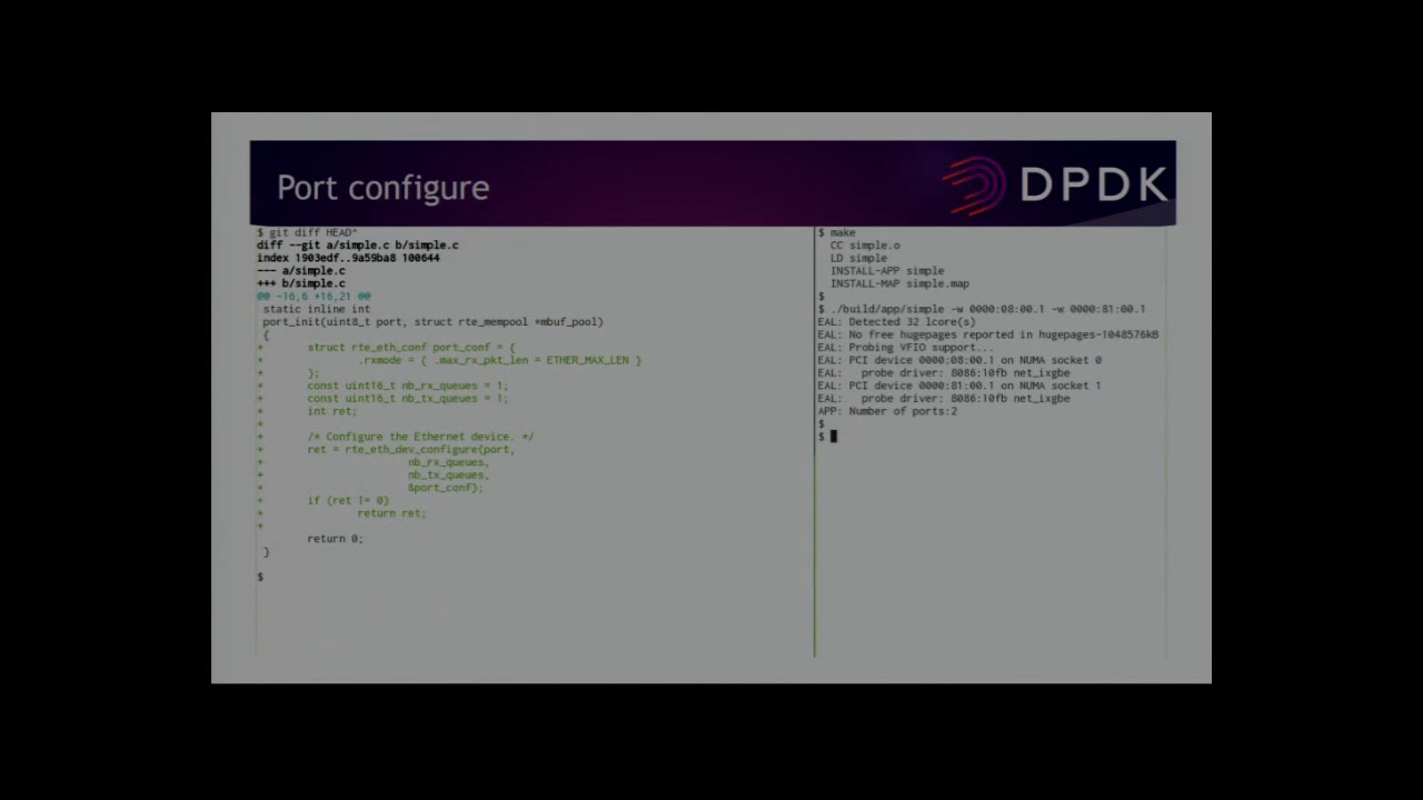 Writing a functional DPDK application from scratch