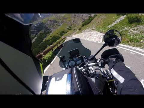 Driving up the Stelvio Pass Italy (RAW) Full version - Motorcycle Trip - Adventure biker BMW R1200GS