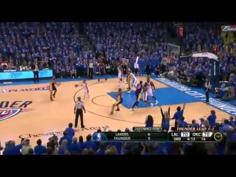 NBA Playoffs Play Of The Day - 21st May 2012 - Thunder Vs Lakers Playoffs