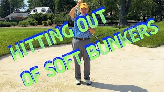 Hitting Bunker Shots out of Soft Bunkers