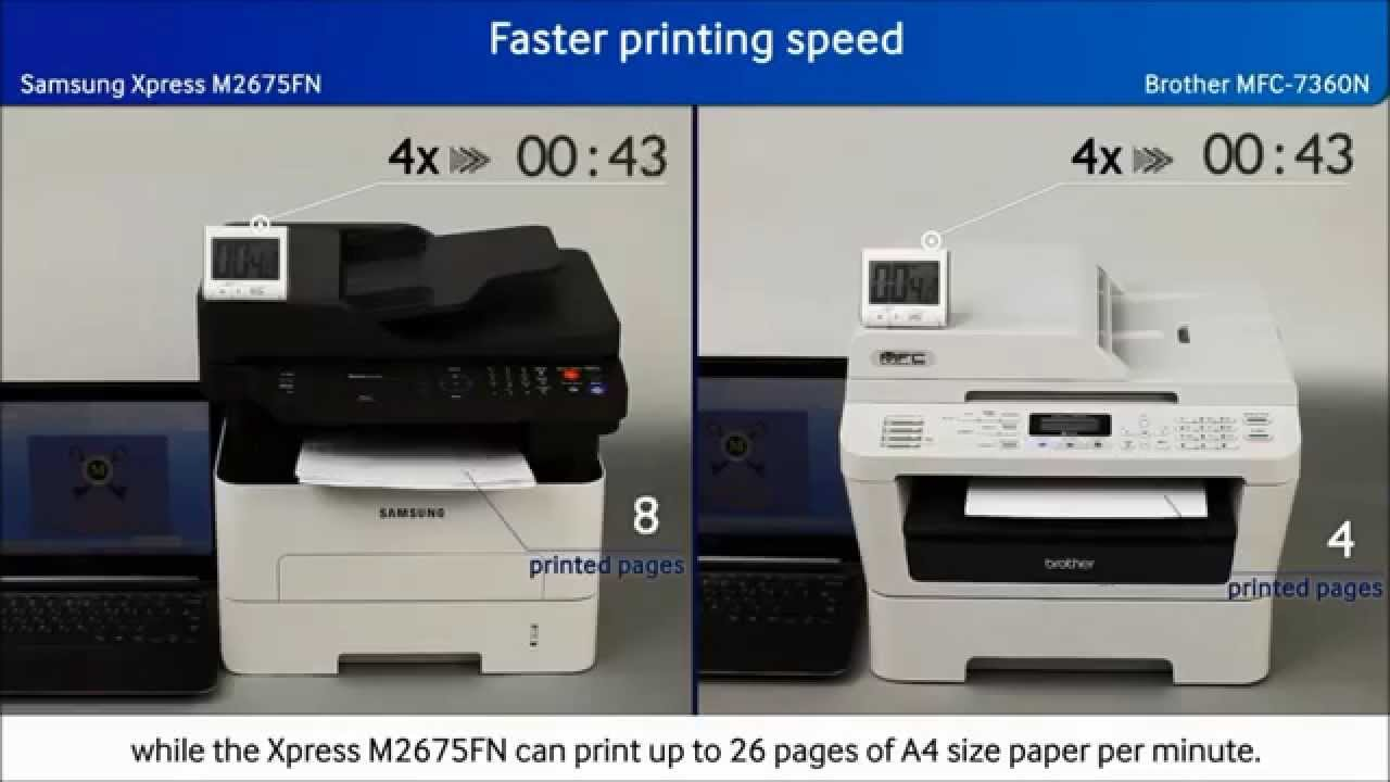 Color printing inkjet vs laser - Confronto Tra Samsung Xpress M2675fn Vs Brother Mfc 7360n Color Line