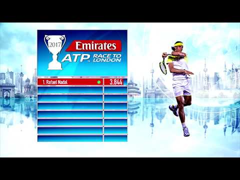 Emirates ATP Race To London Update 9 October 2017