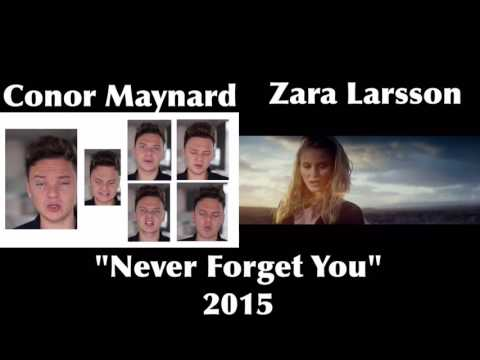 Conor Maynard Zara Larsson Never Forget You Side By Side