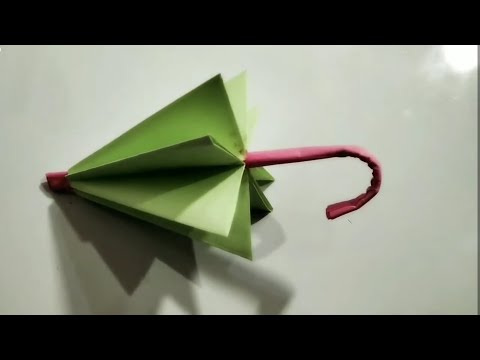कागज का छाता बनाये आसानी   How to make paper umbrella origami  