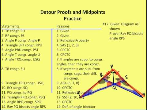 4 1 Detour Proofs And Midpoints Practice