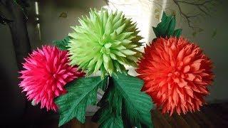 цветы из гофрированной бумаги -  волшебные ежики