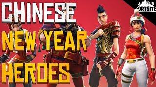 FORTNITE - Quatre héros du Nouvel An chinois et 8 nouvelles armes de dragon (Comment obtenir l'arbalète)
