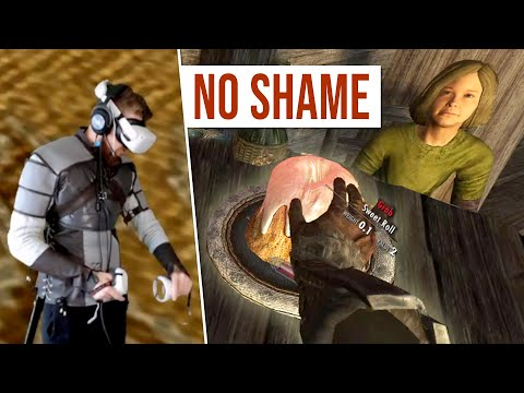 Shameful is what it is... (Skyrim Gameplay)