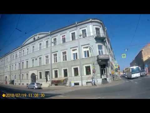 Санкт-Петербург.Поездка на автобусе №49 Двинская улица - Финляндский вокзал.