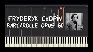 """How to play the piano """"barcarolle opus 60"""" by fryderyk chopin! listen this chopin - barcarolle 60 cover and learn pian..."""