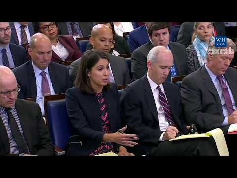 Download Youtube: Sarah 'Huckabee' Sanders Press Briefing on Trump's Call to widow of fallen soldier frederica wilson