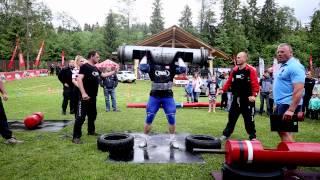 """Marcin """"Kukaj"""" Sendwicki bije rekord świata w wyciskaniu belki 175kg (Szaflary, 21.06.2015)"""