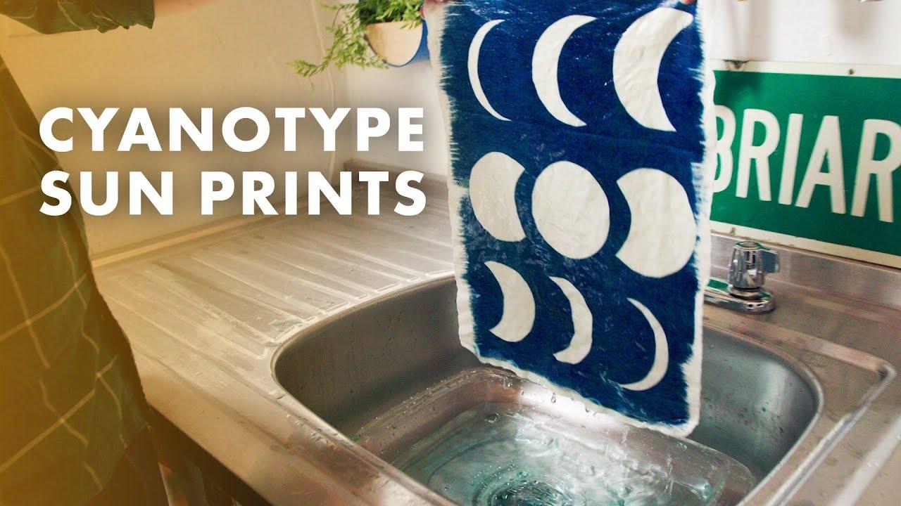 How To Sun Print Fabric Cyanotype 101 Hgtv Handmade Youtube