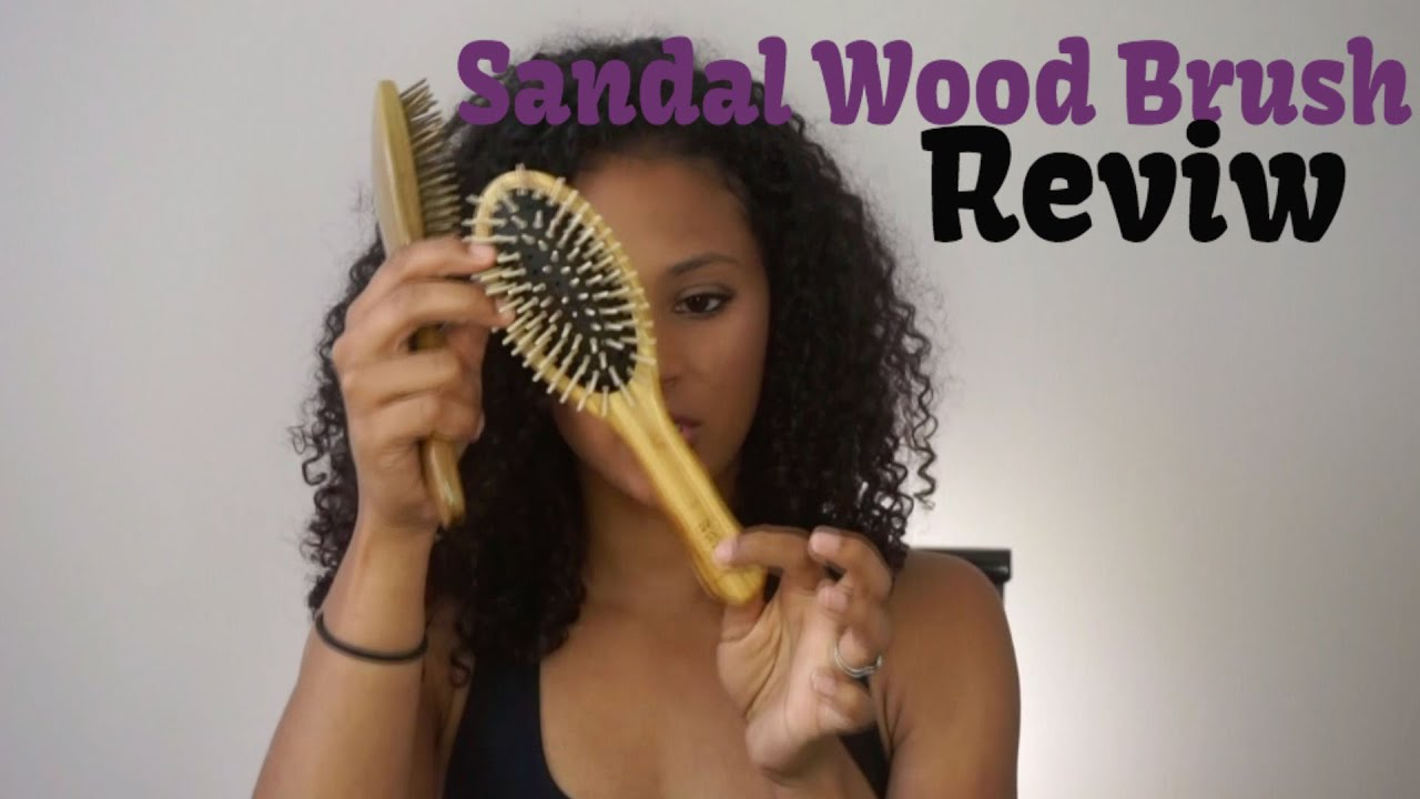 A Great Brush For Curly Hair Sandal Wood Brush Review