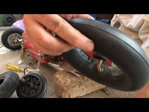 Razor E200 Electric Scooter How To Fix Rear Puncture Flat Tyre
