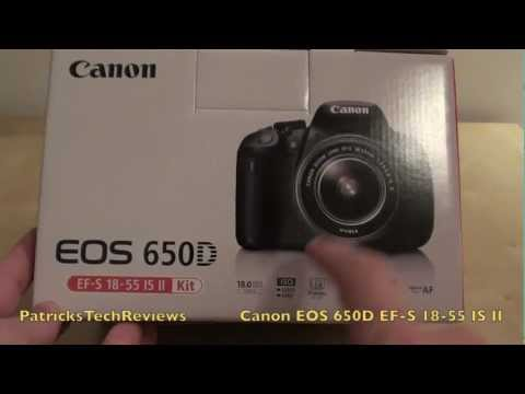 Canon EOS 650D EF-S 18-55 IS II - unboxing video & first start up