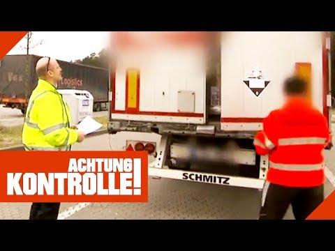 Ätzendes Gefahrgut von IKEA?! Polizei öffnet Plombe von LKW!   Achtung Kontrolle   Kabel Eins